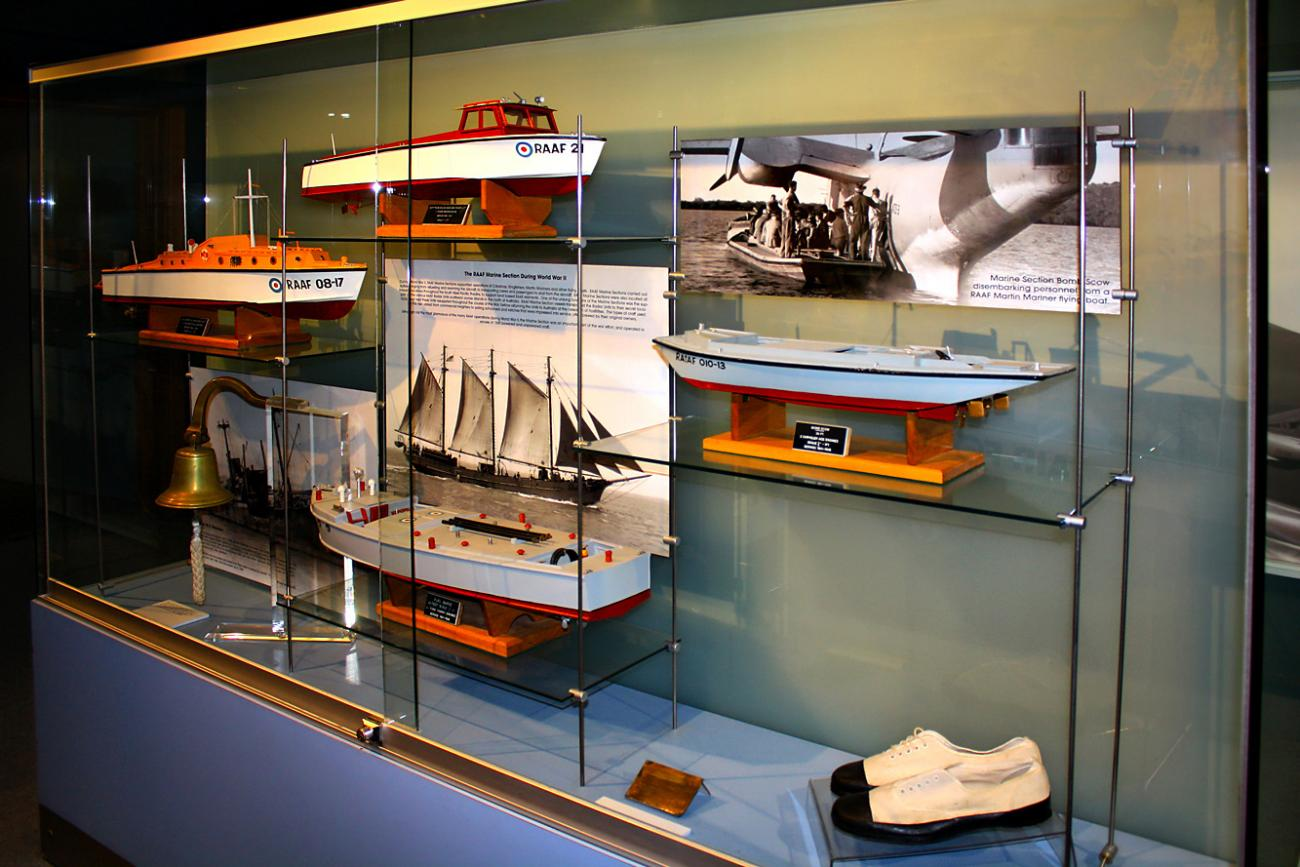 Models of WW2 RAAF maritime craft.