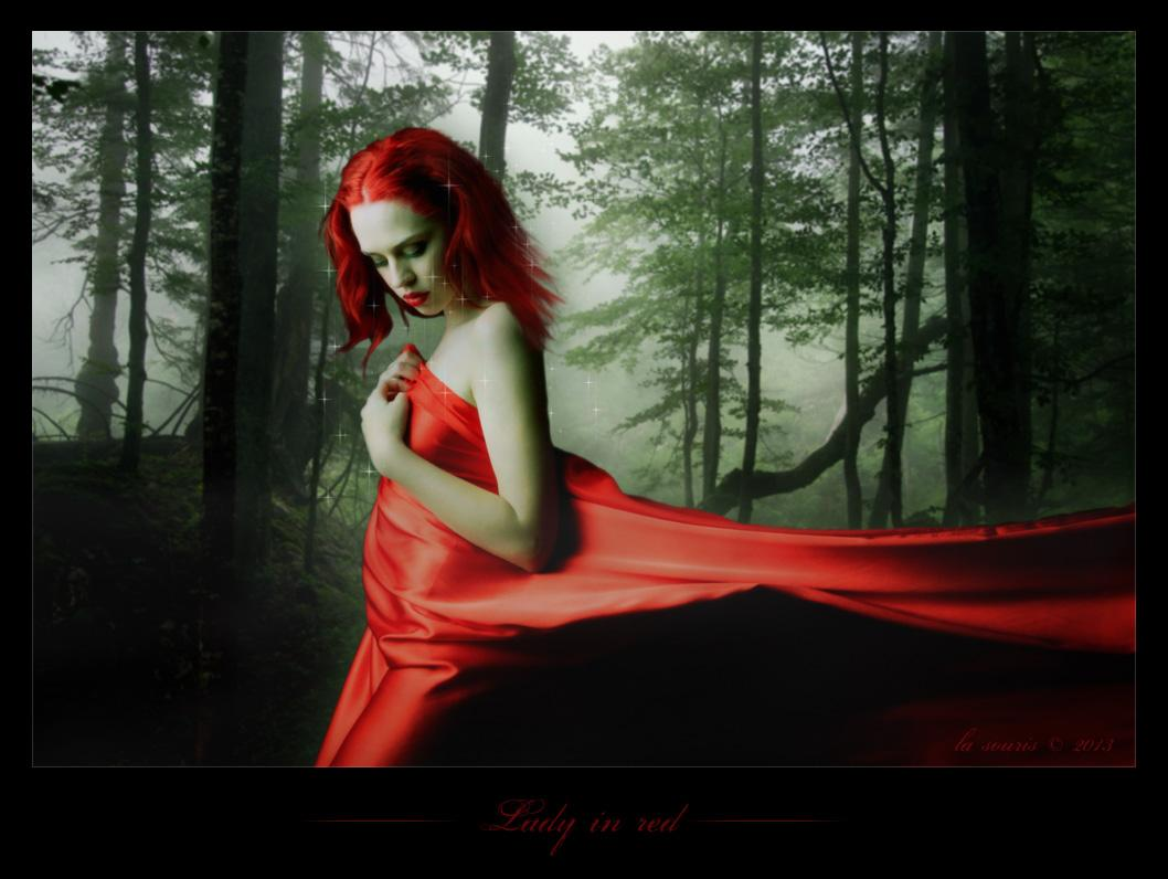 ~ Lady in red ~
