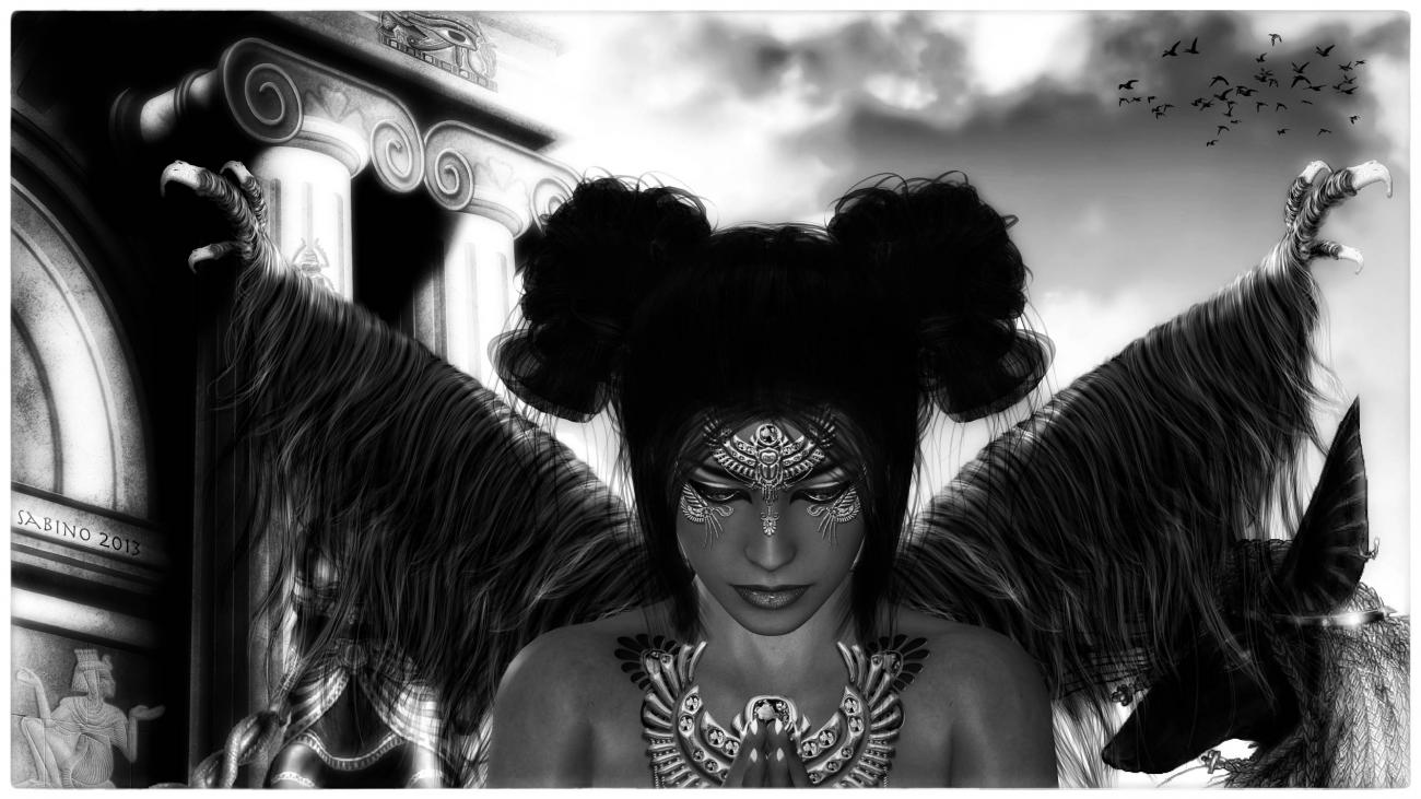 FADWA-the angel who sacrifices(black and white)