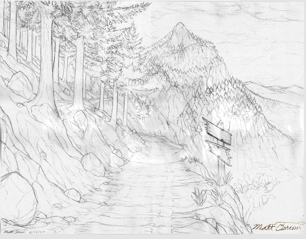 King Mountain Road Drawing
