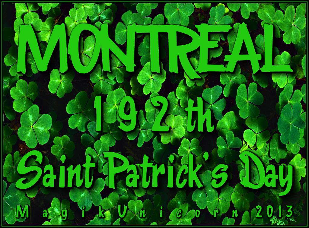 Montreal 192th St Patrick's Day