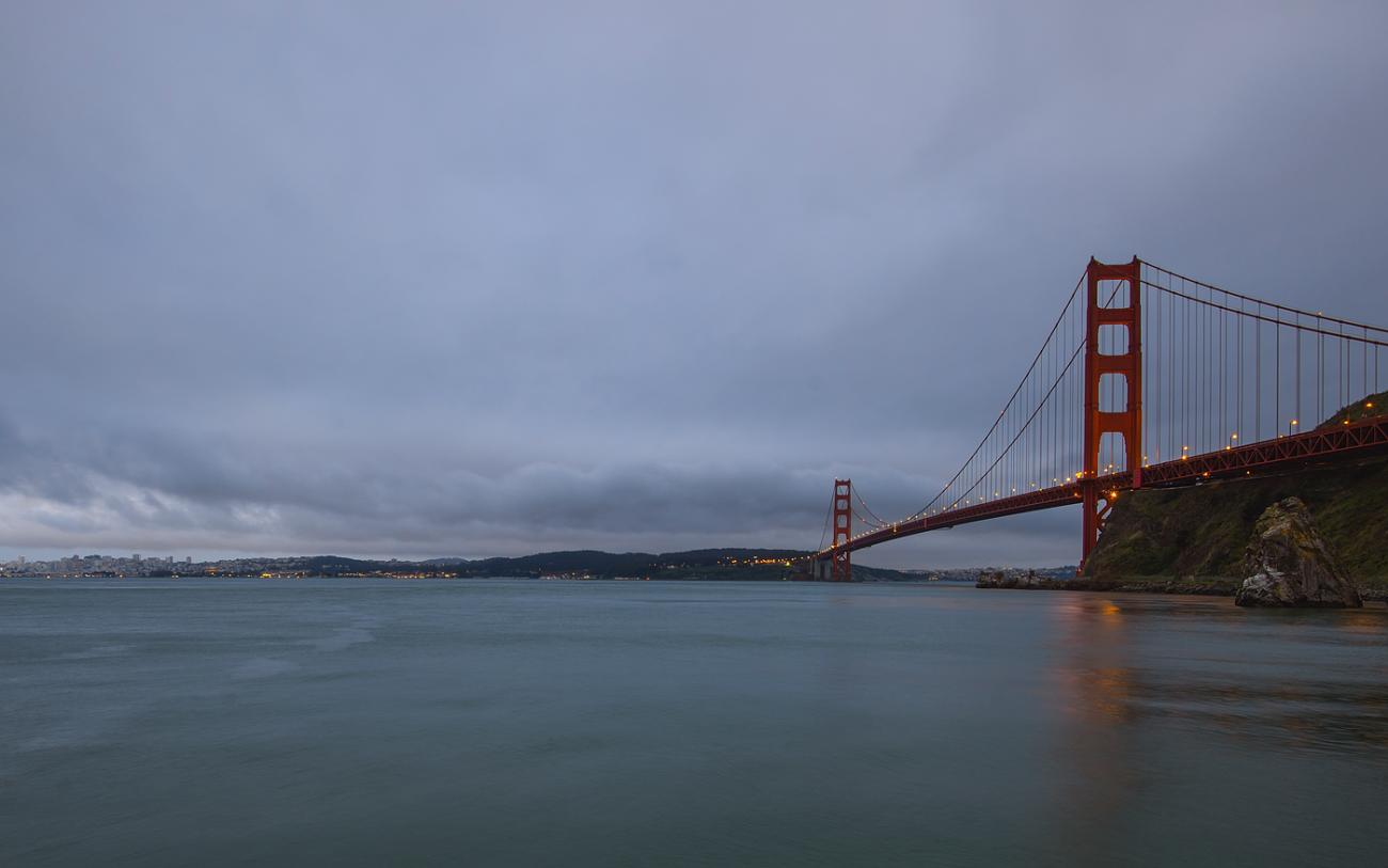 Golden Gate Evening by bpmac
