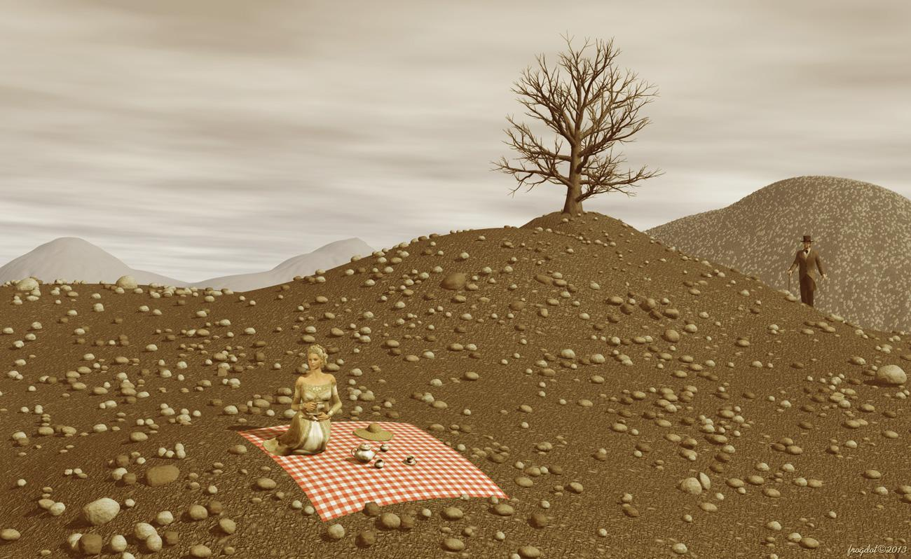Tea For Two In The Sea Of Stones by frogdot