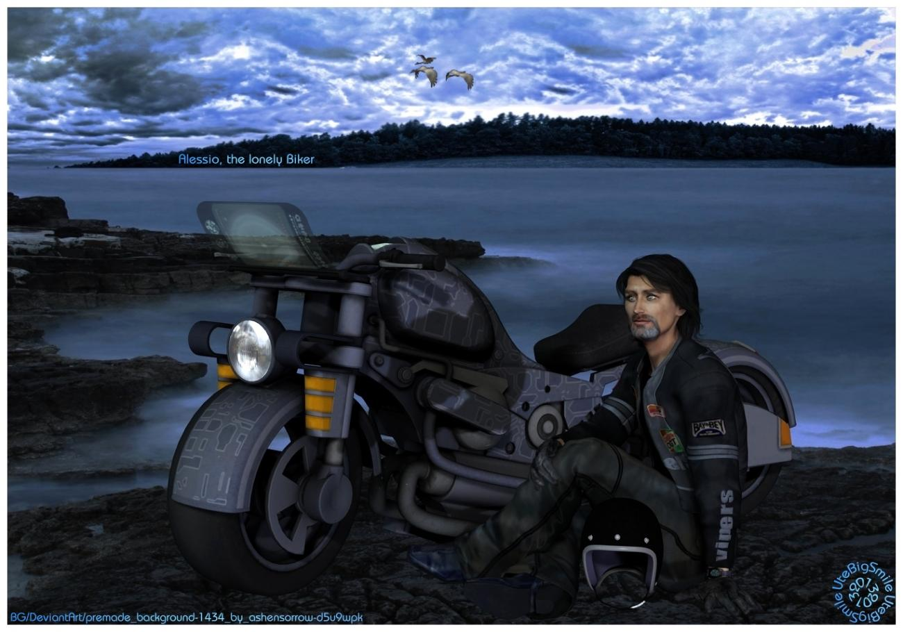 Alessio, the lonely Biker  (for Jean_C)