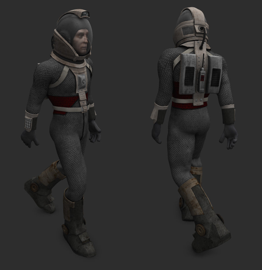 Space suit for adman WIP2