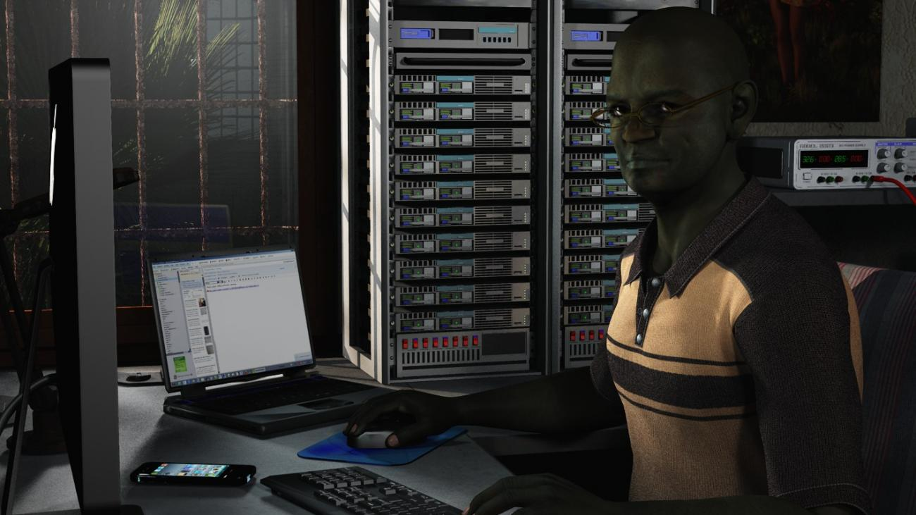 Jomo in his server room