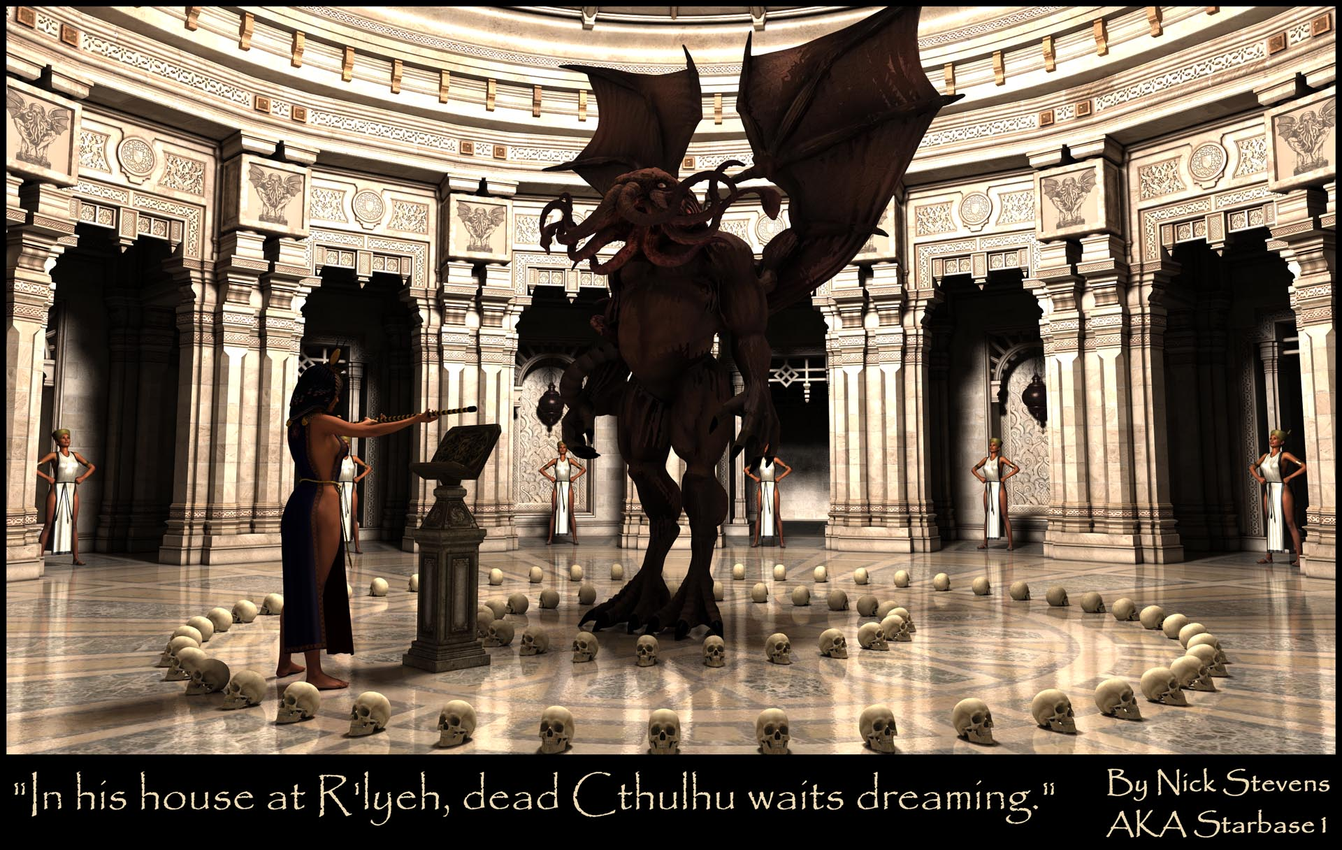 In his house at Rlyeh dead Cthulhu waits dreaming