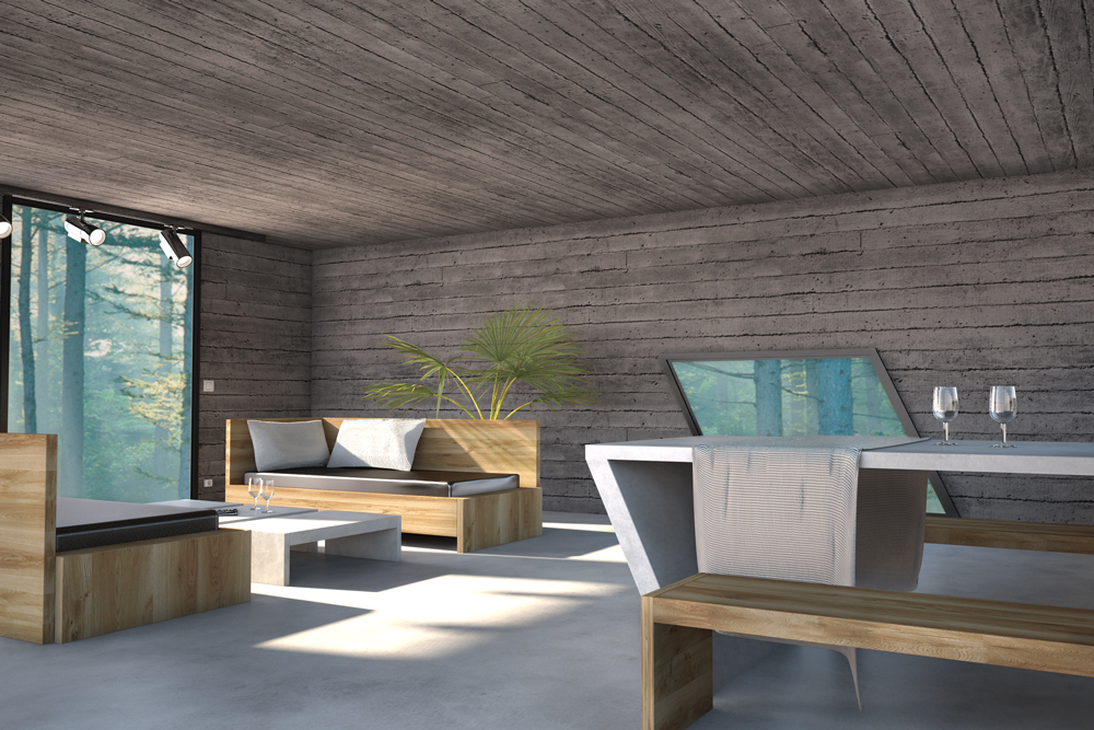 Concrete room by lweisz cinema 4d architecture for Cinema 4d architecture