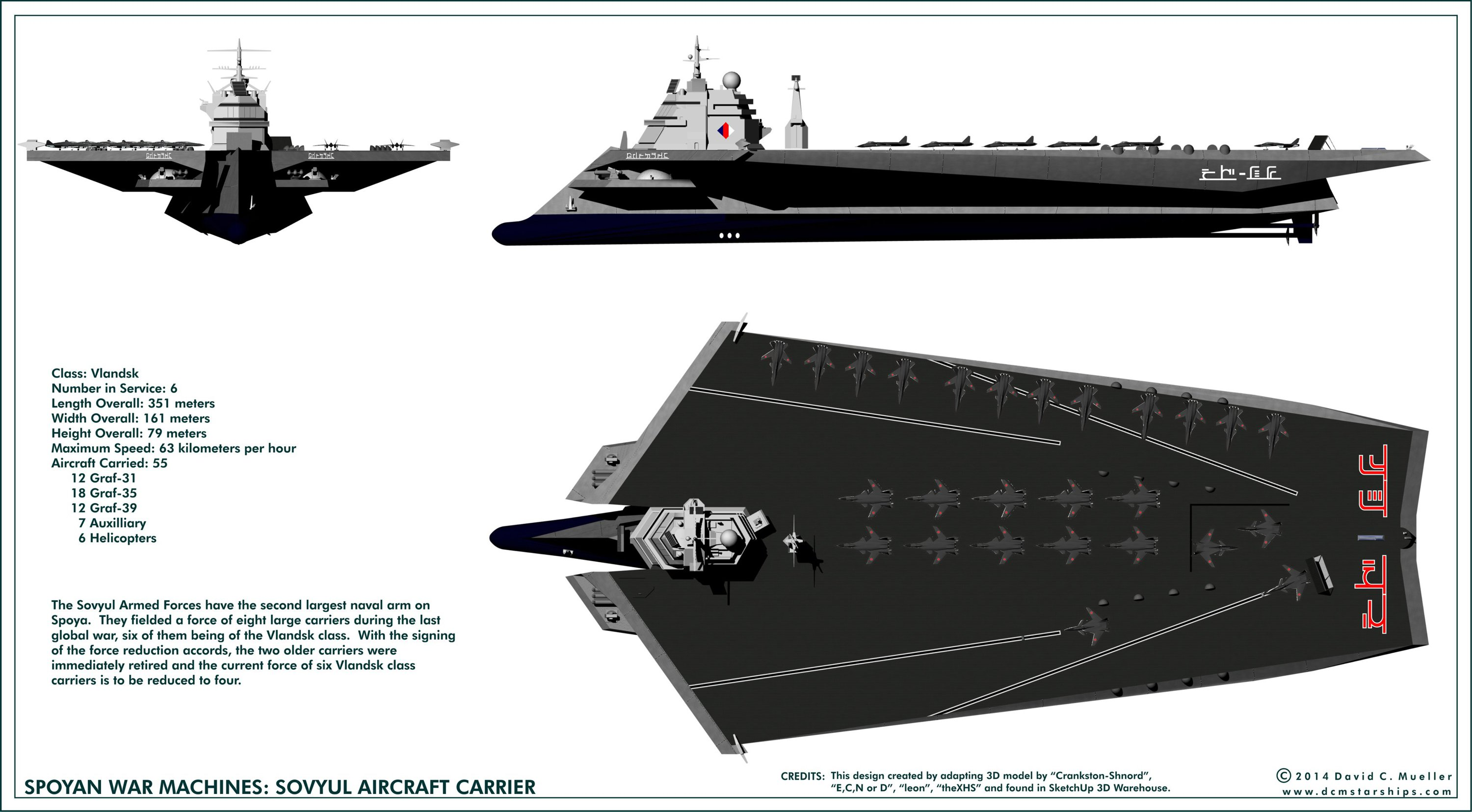 Spoyan Aircraft Carrier Sovyul By Dcmstarships Aviation
