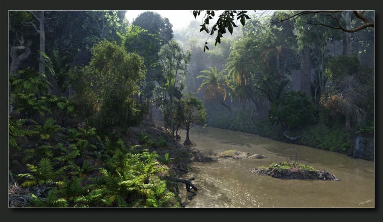 Misty Tropical River