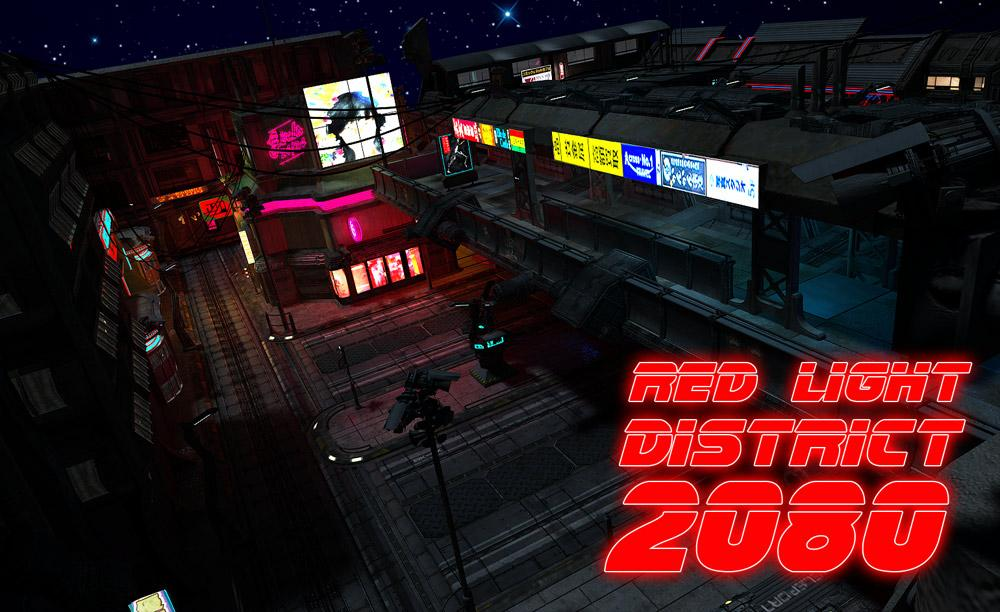 Red Light District 2080 by night by powerage