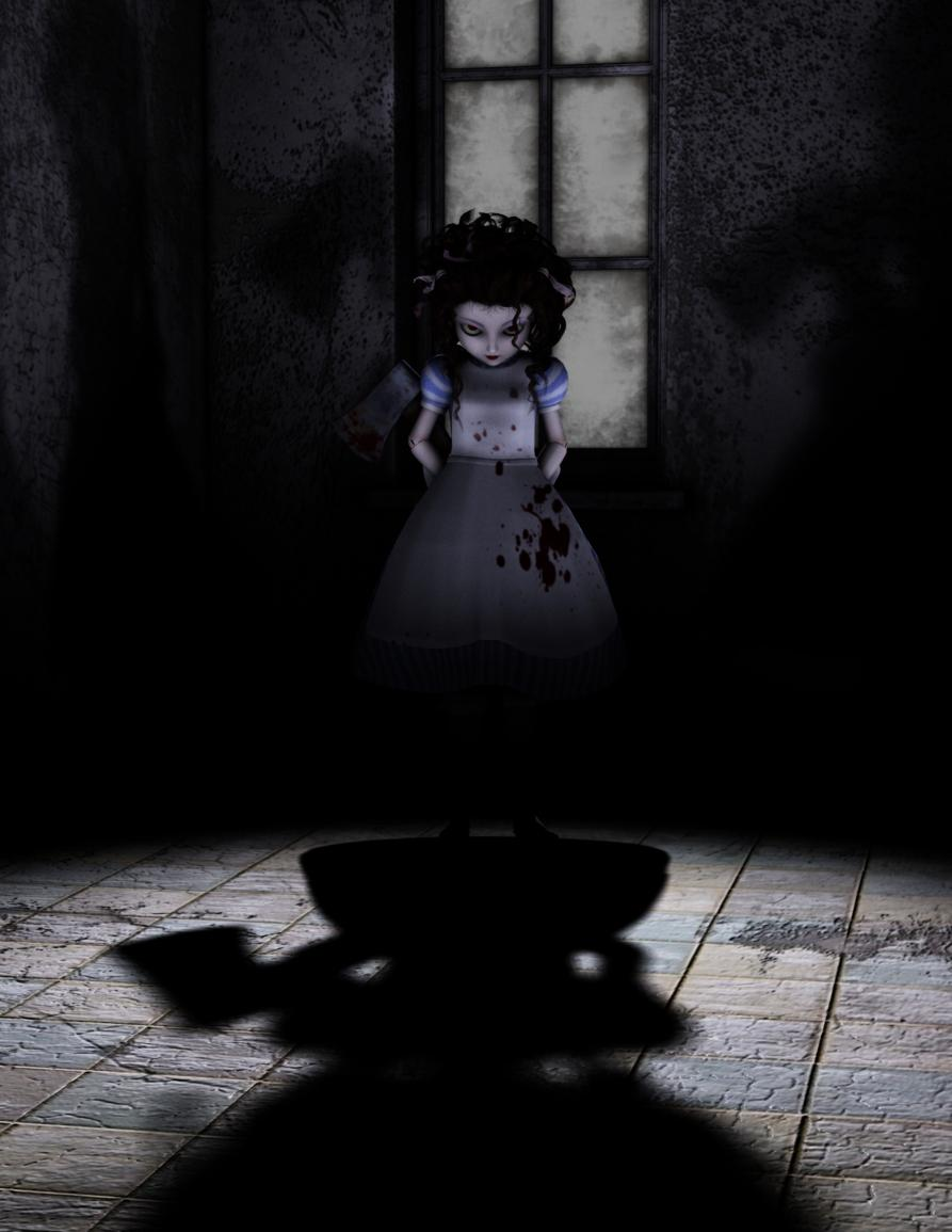 Burtonesque Alice Doll