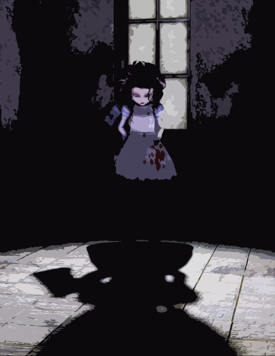 Burtonesque Alice Doll Toon