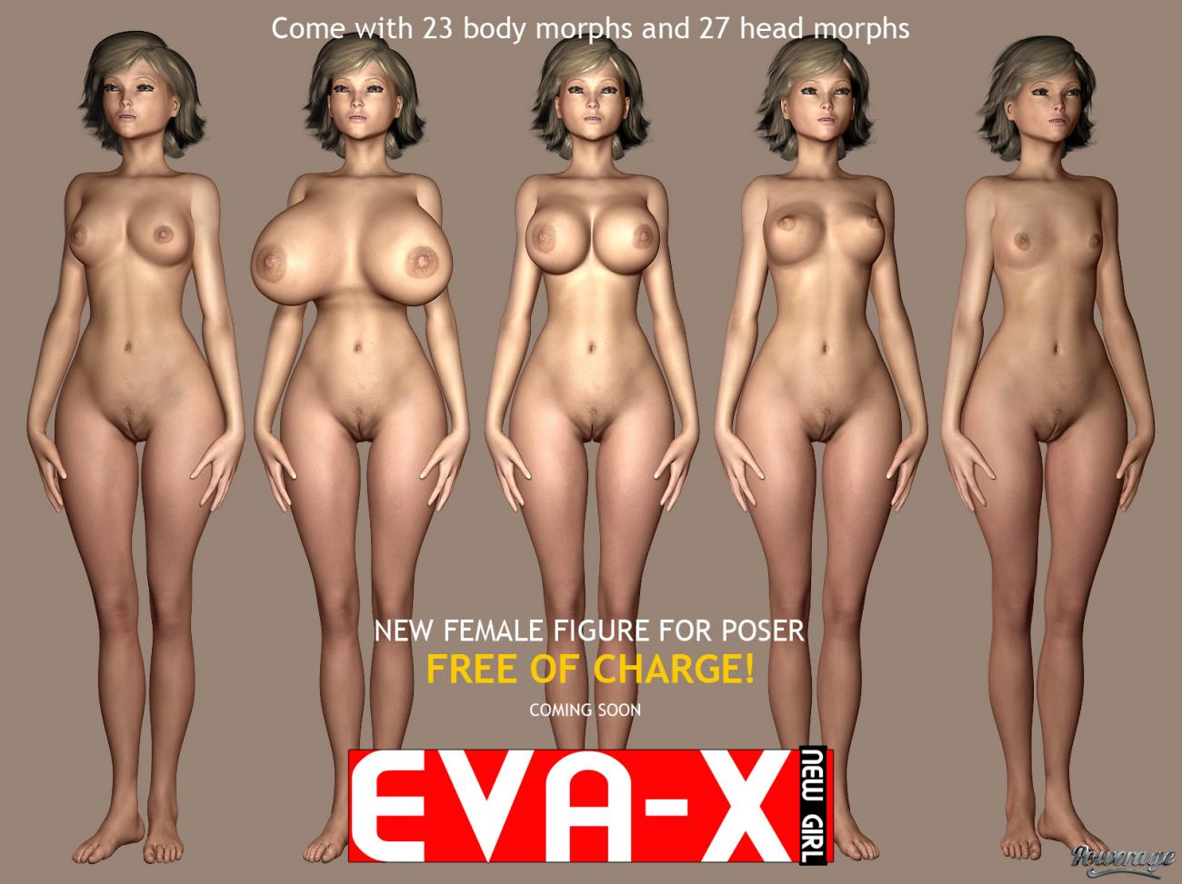 Eva-X new girl for Poser by powerage