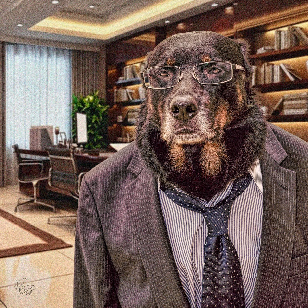 Barney the boss by Junglegeorge