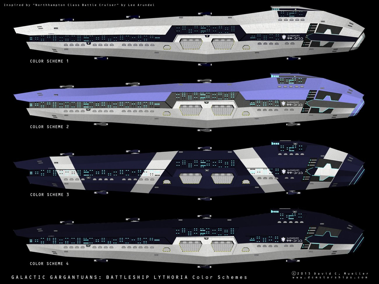 Battleship Lythoria Color Schemes