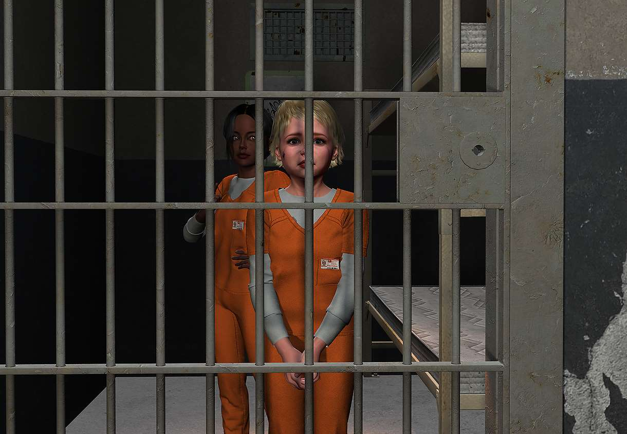 Chained asian women in prison apologise