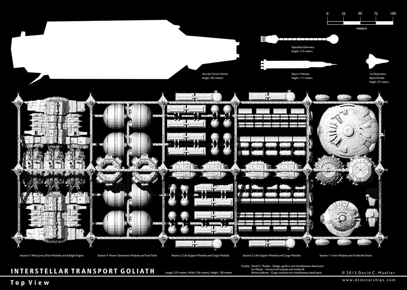 Interstellar Transport Goliath Top View