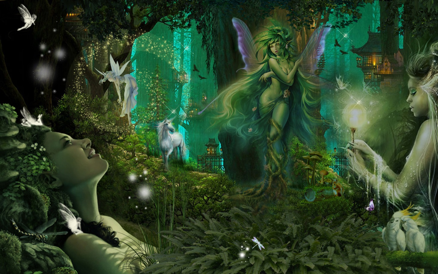 My Magical forest world for all my good friends.