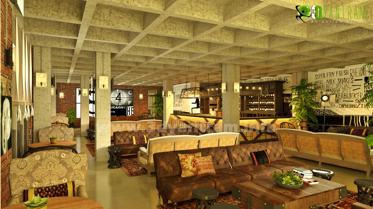 Commercial d interior design classic restaurant by