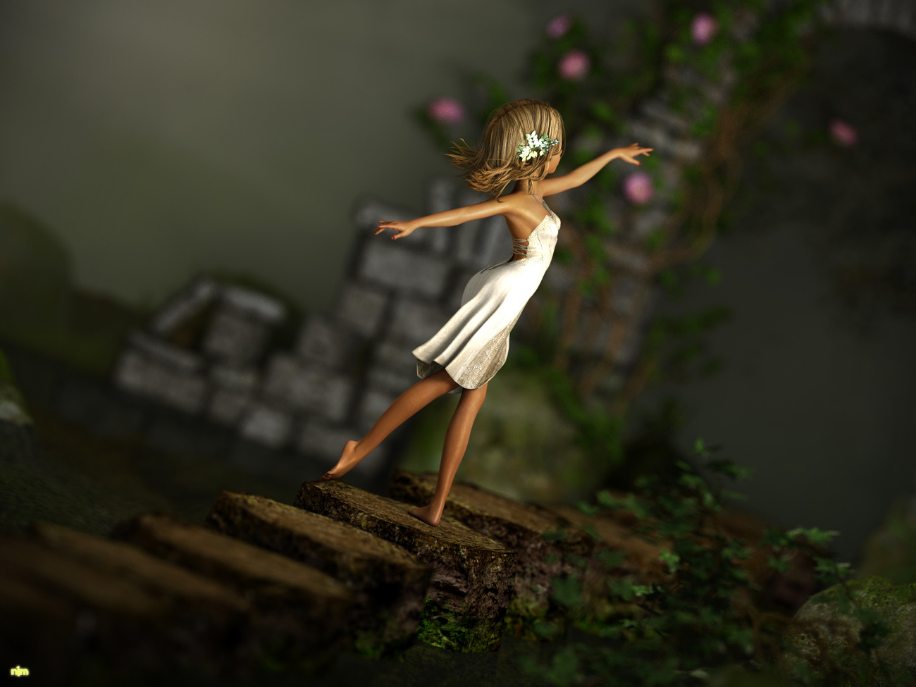A little dance to the old gate