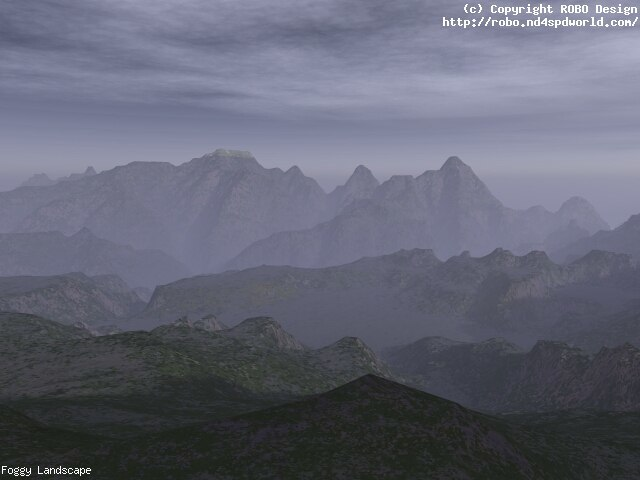 Foggy Landscape by robodesign