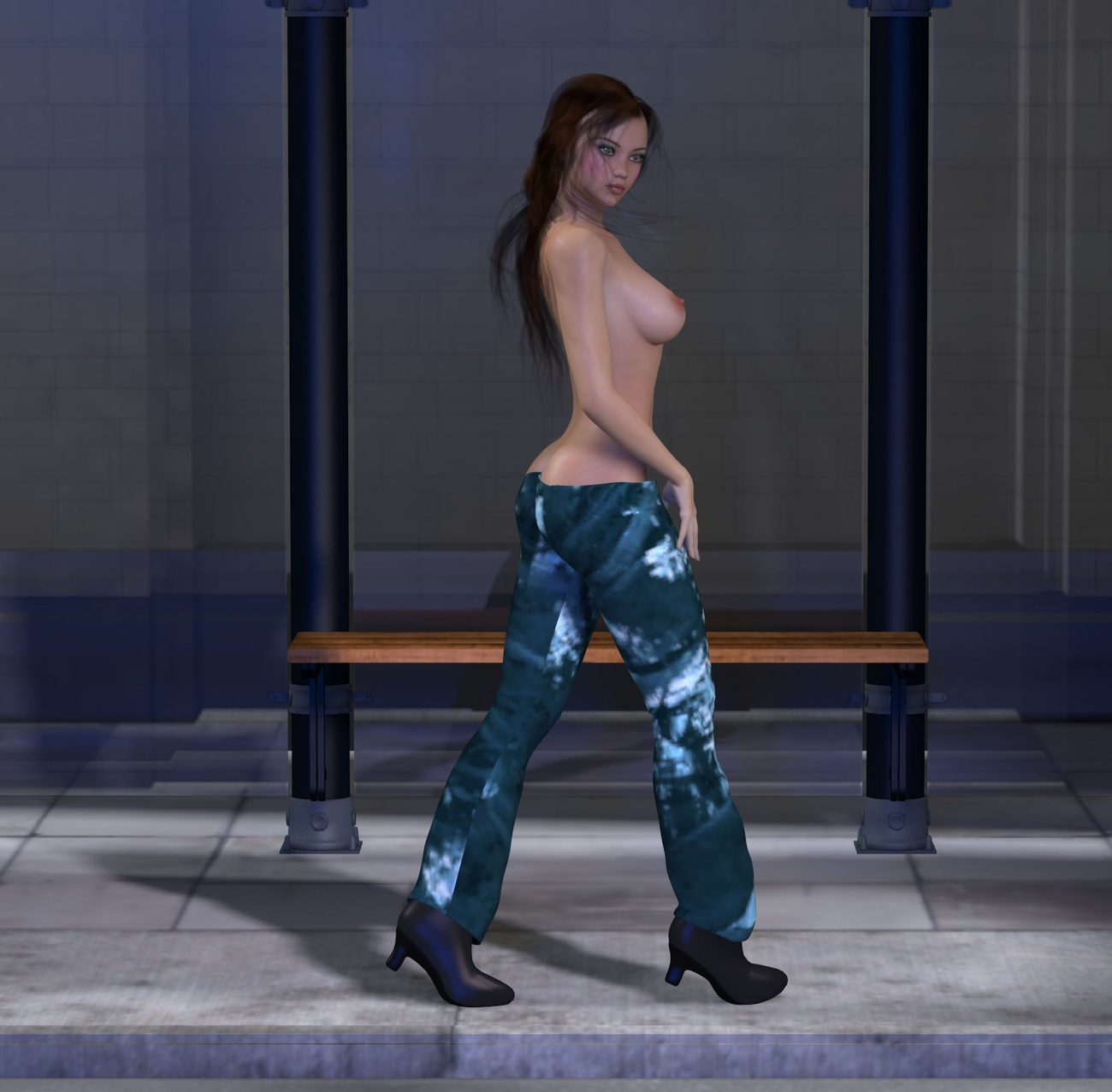 Walking Naked Down The Street 36