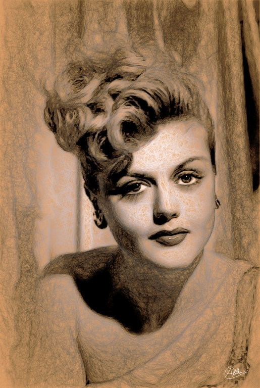 Angela Lansbury pencil draw by quim2001