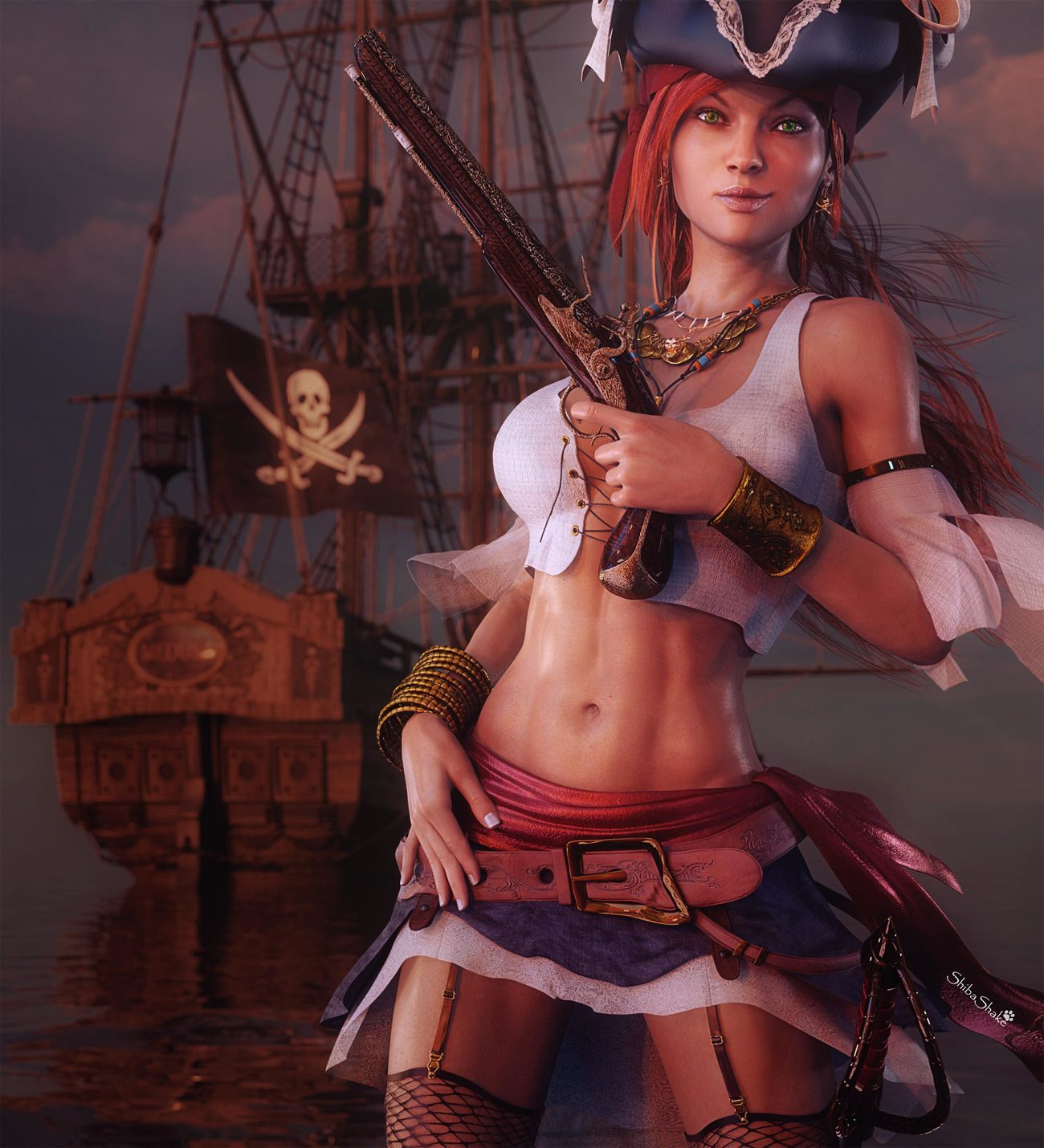 Pirate Girl Fantasy Art