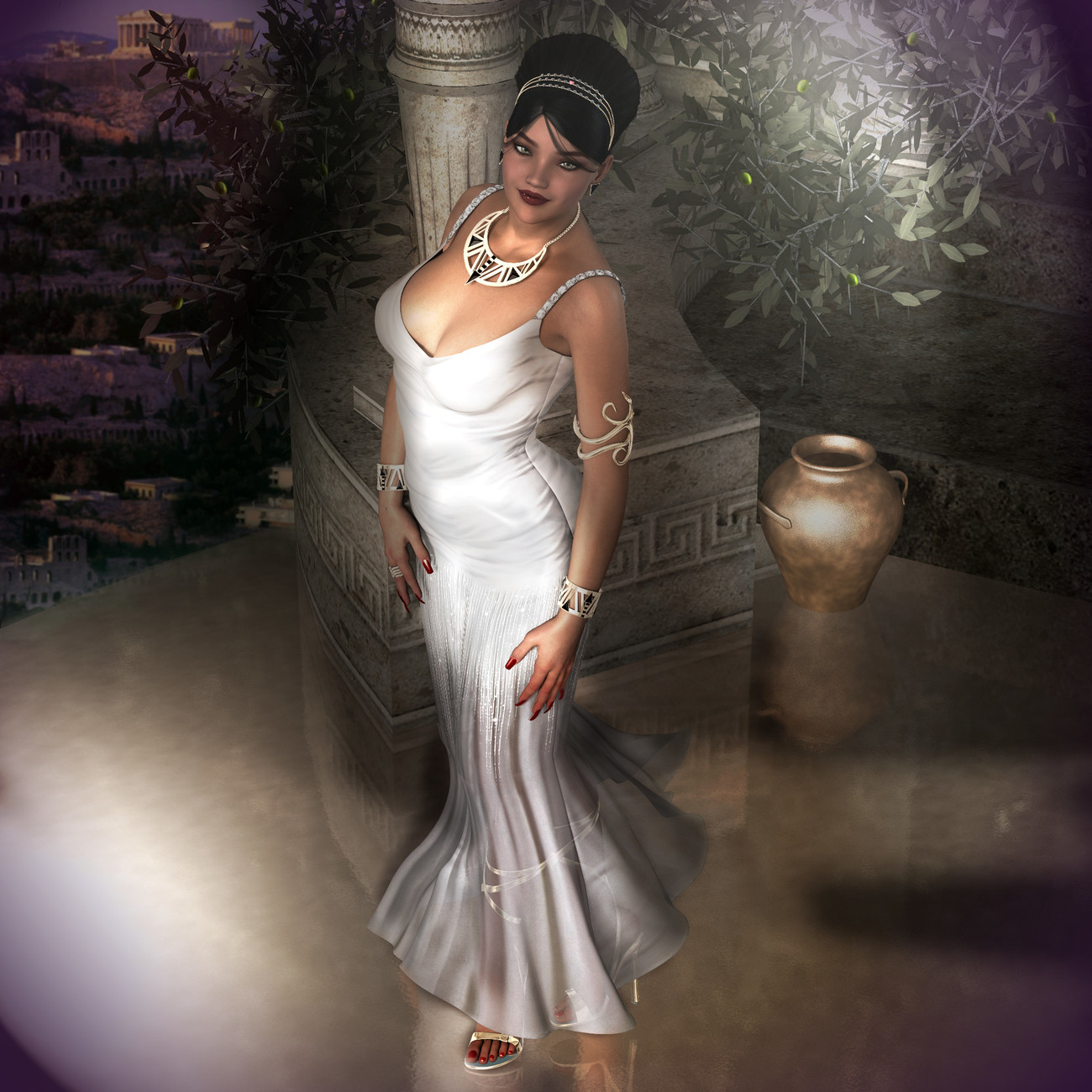 Rendo2014 Miss Greece - Gown by -renapd-