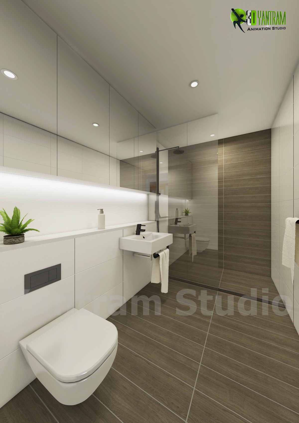 3d interior bathroom design by yantramstudio 3d modeling for 3d bathroom decor