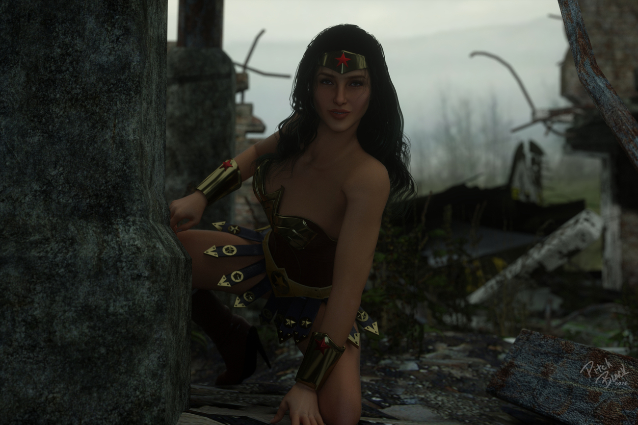 Movie Wonder Woman In Ruins - Color Version by Pitch_Black