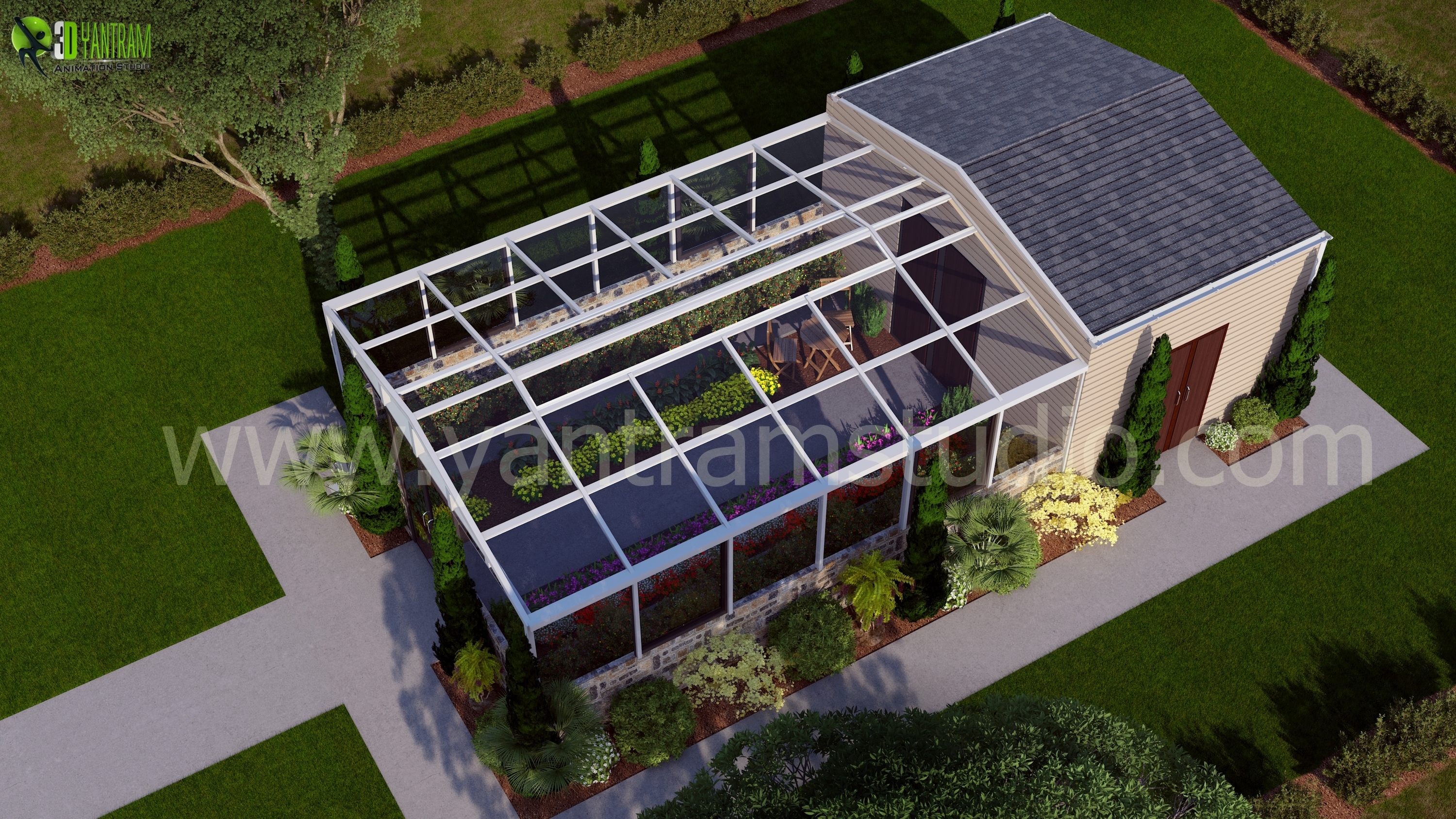 home design architects 3d architectural green house design by yantramstudio 3d 12069
