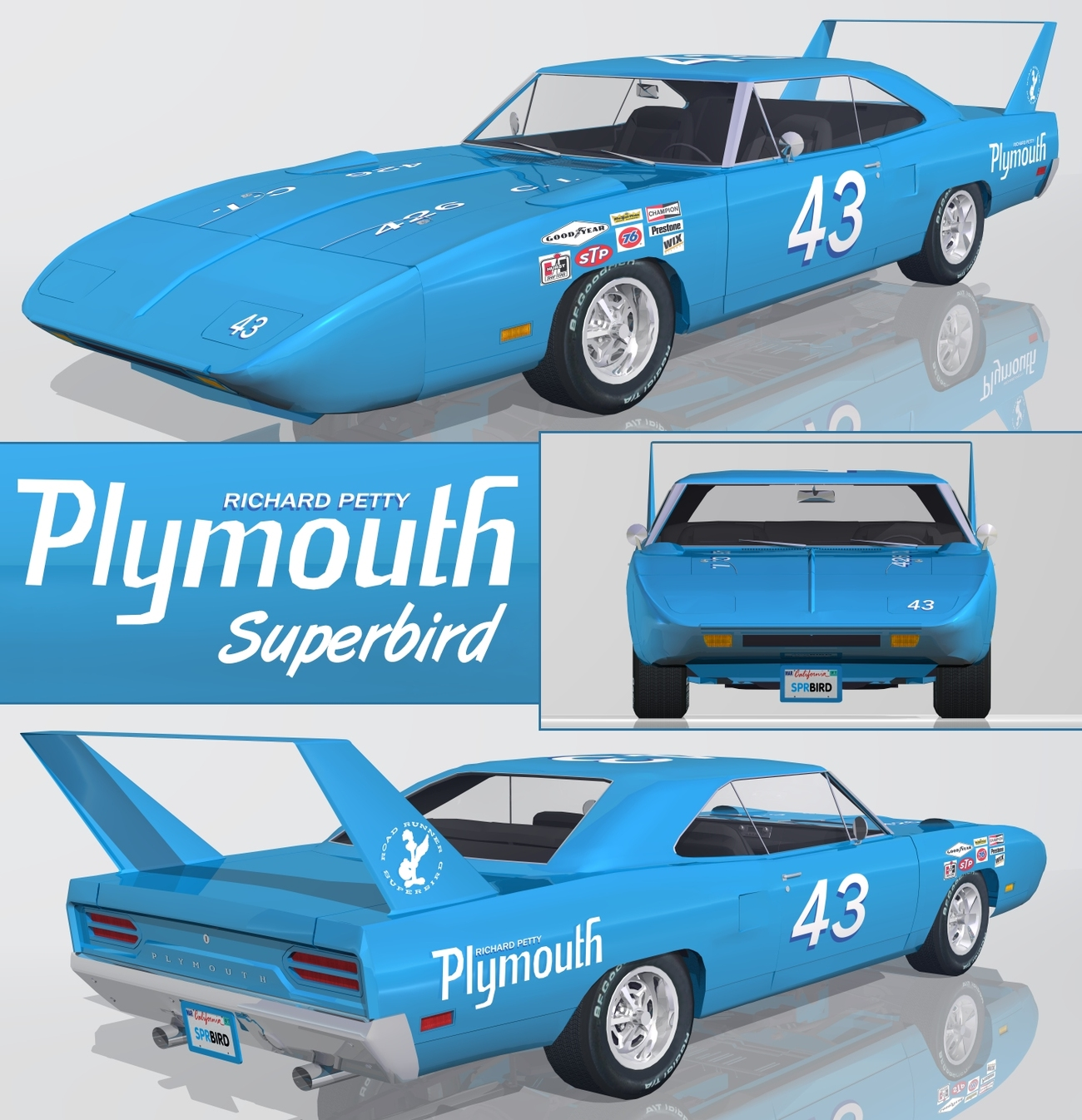 Richard Petty For Sale: 1970 Plymouth Superbird By Fahrenheit451 Bryce Transportation