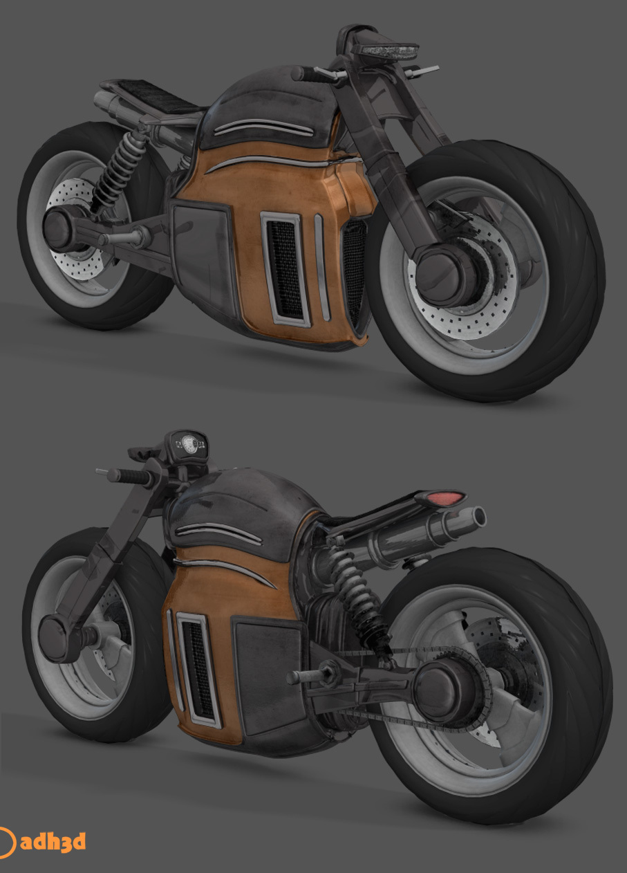 scifi mototcycle by adh3d