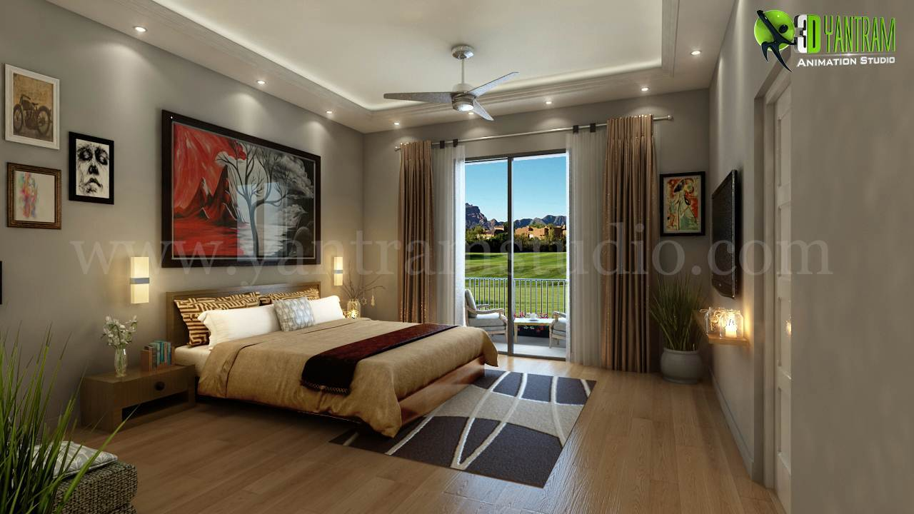 For relaxing 3d modern bedroom design view by for 3d bedroom design