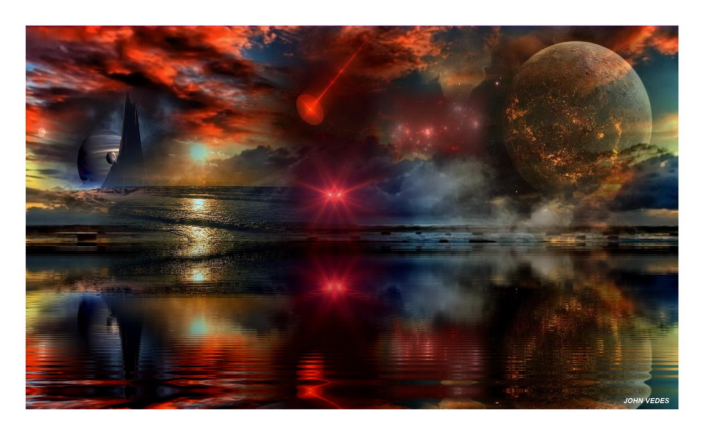 SOMEWHERE IN THE GALAXY by VEDES PhotoShop Photo Manipulation