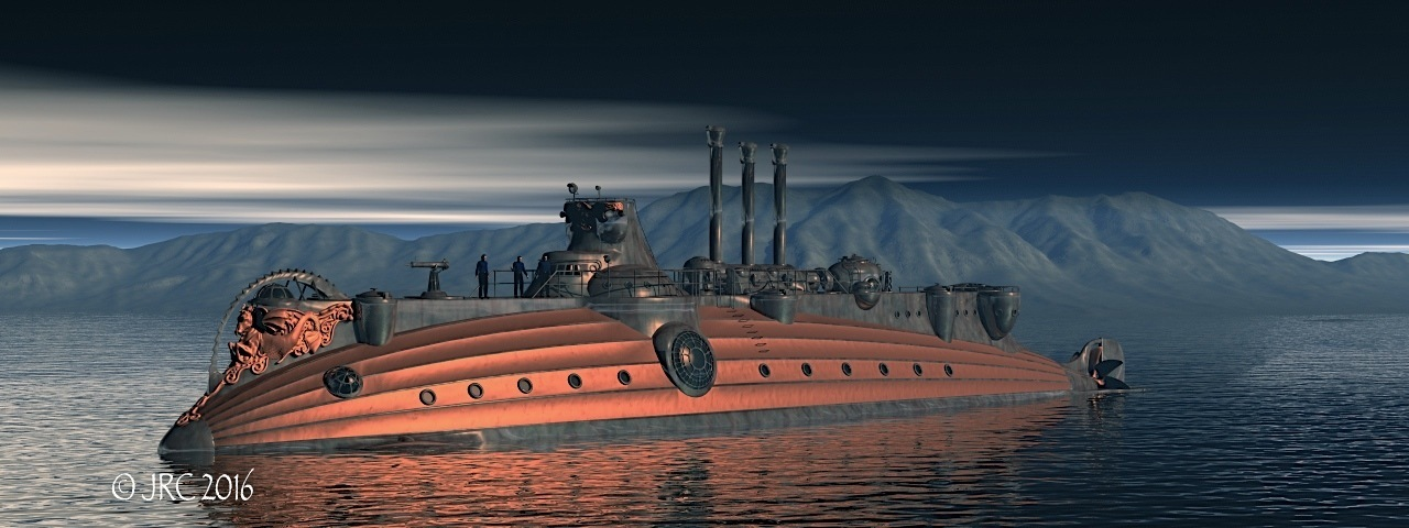 Steampunk submarine 2
