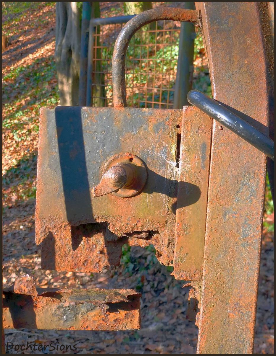 Broken and rusted