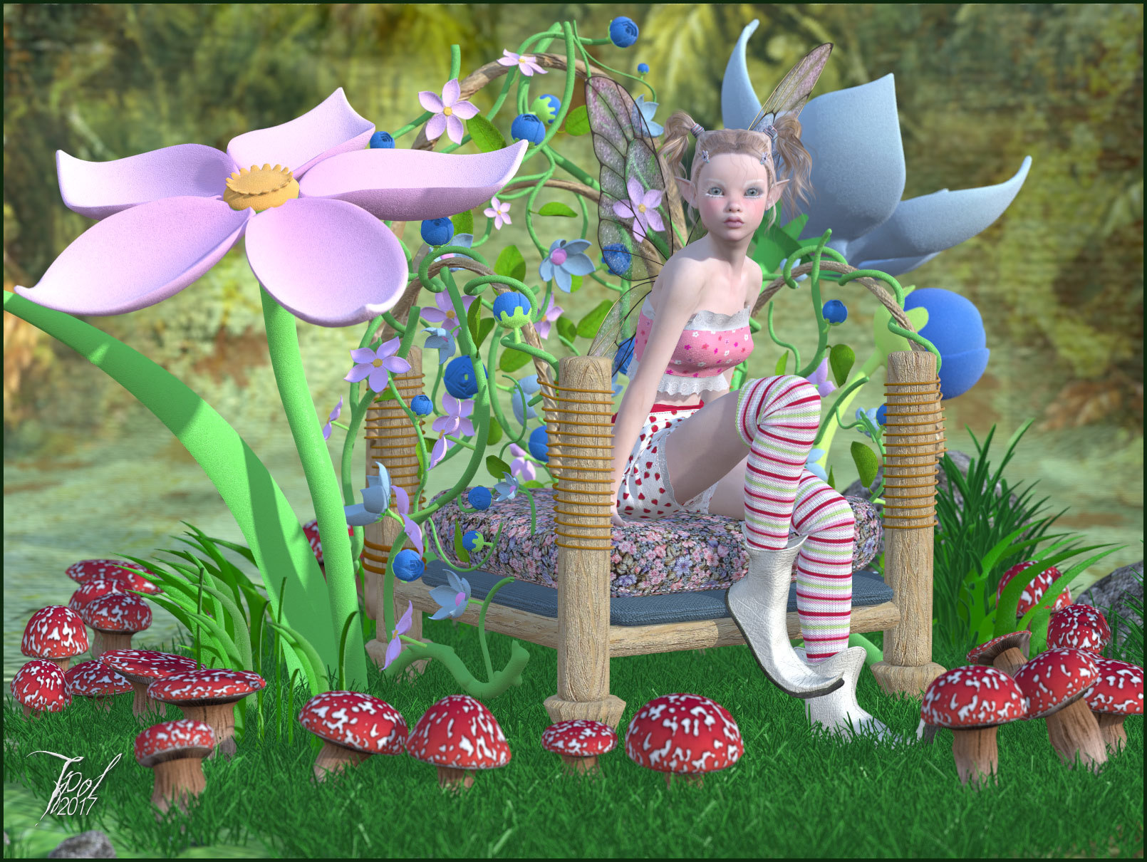Lutine in the flowers