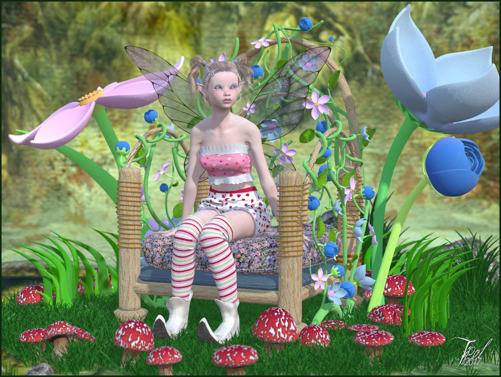 Lutine in the flowers 2