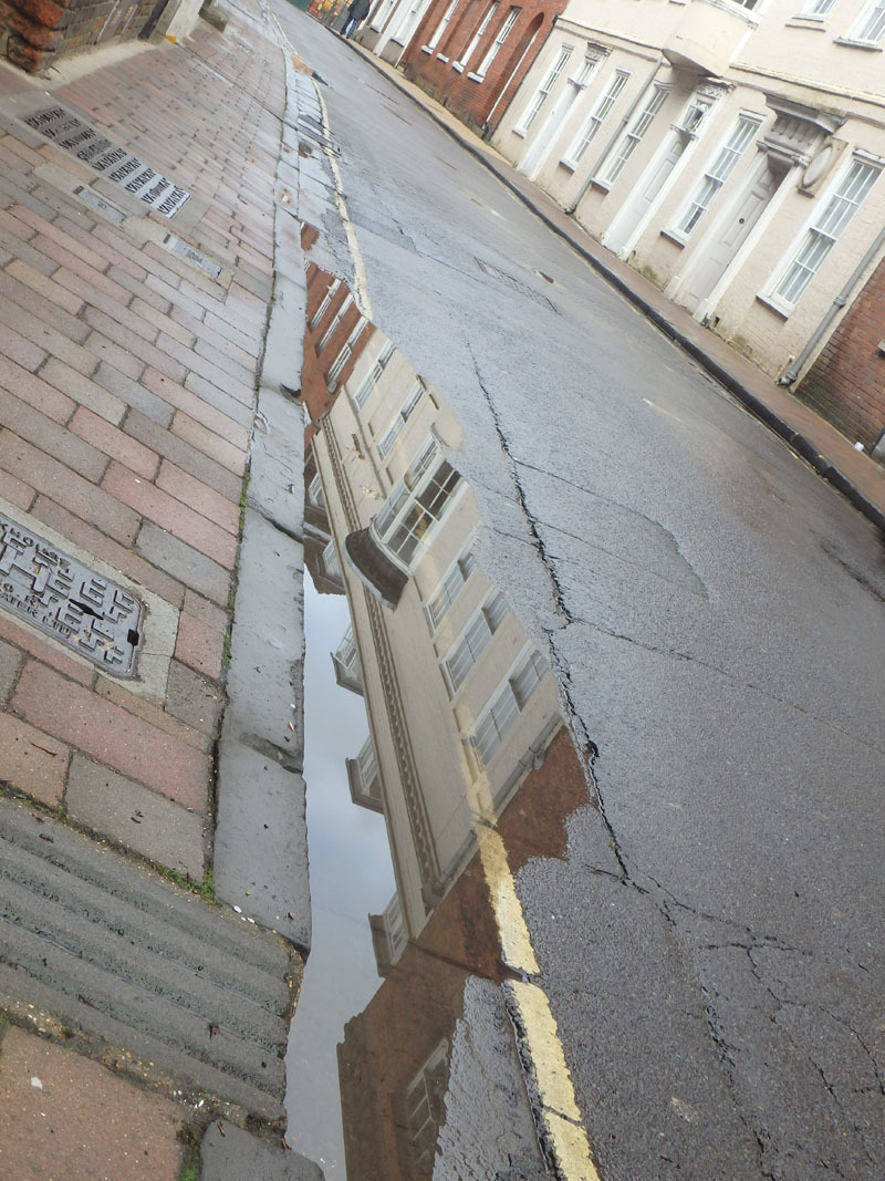 More puddle reflections