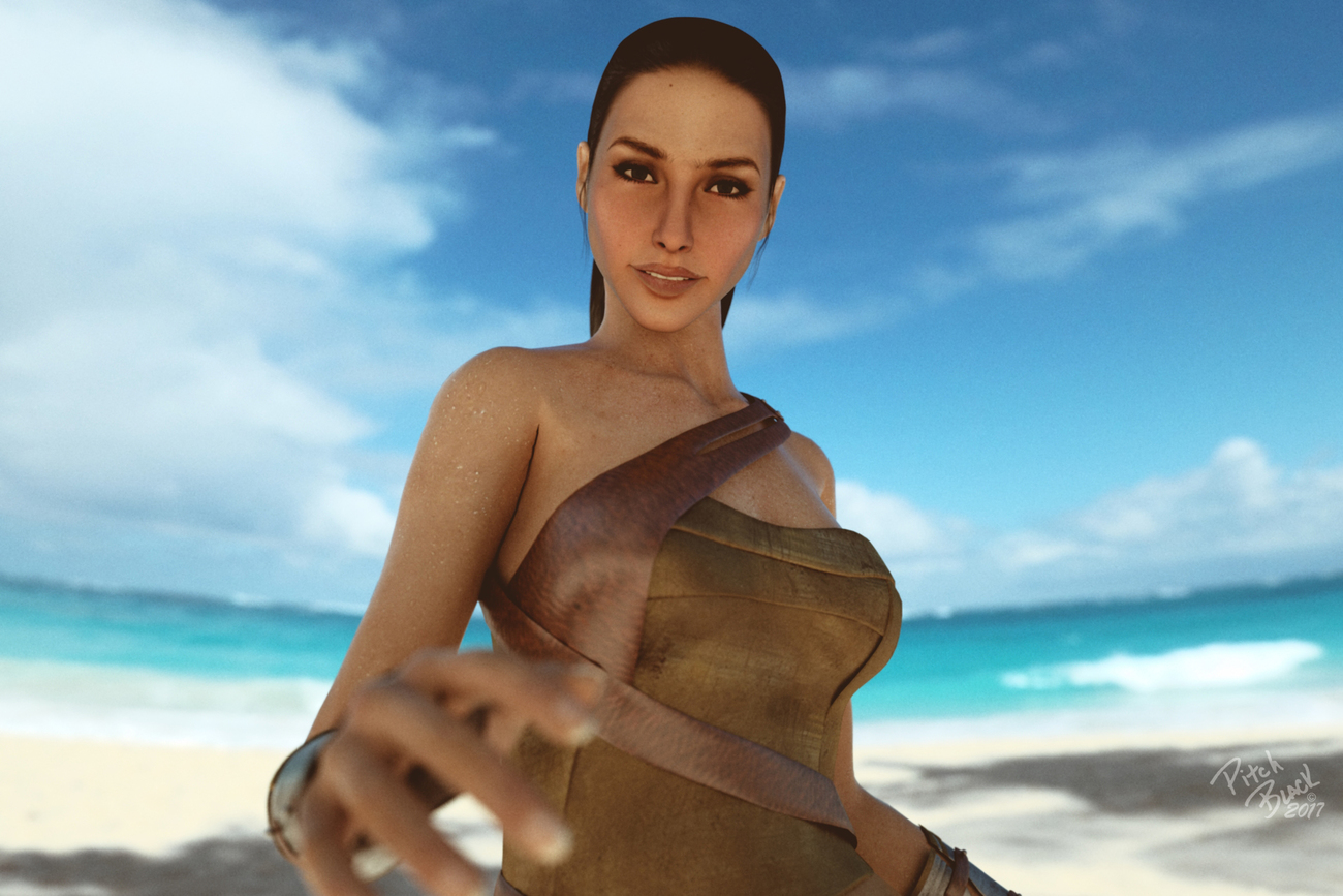 Diana on Beach
