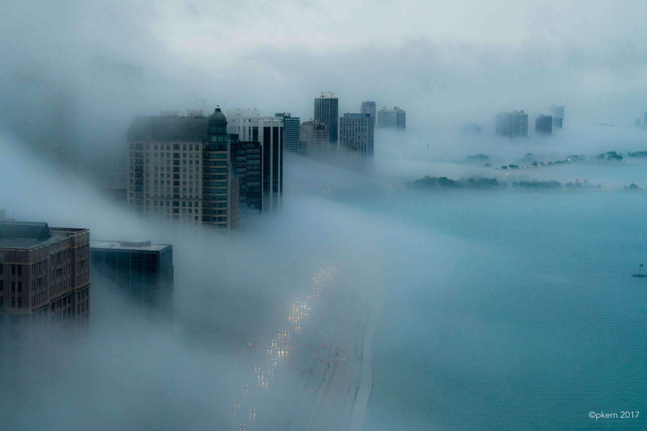 overview with fog