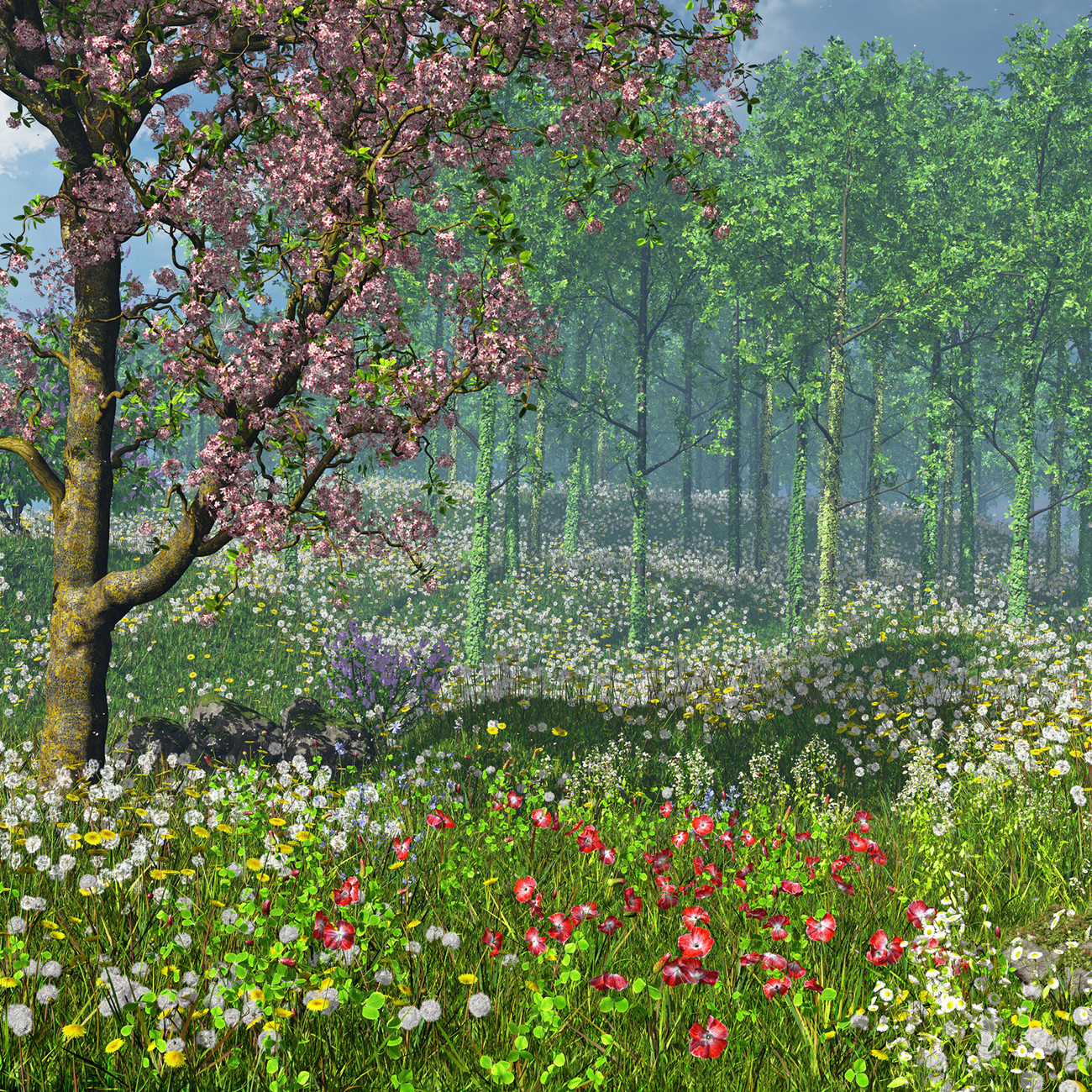 Instant Forest Ivy - Instant Meadow 3 Flowers