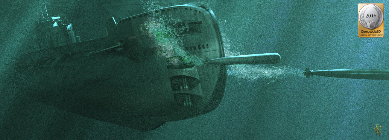 British T Class Sub Firing Off Two