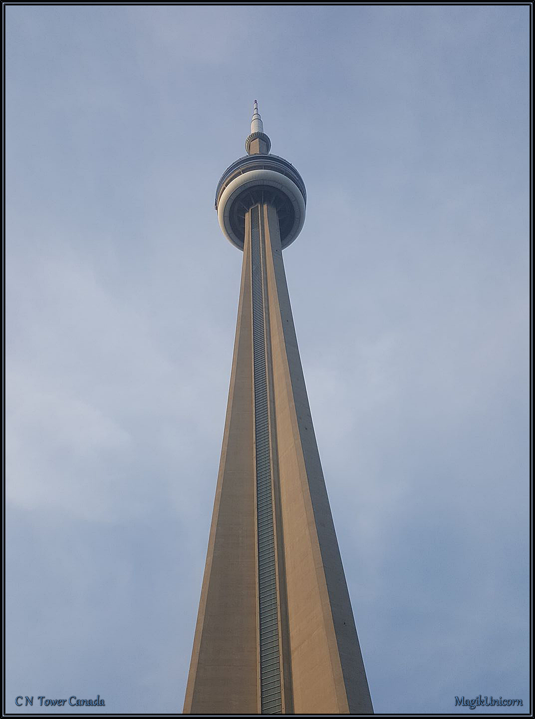 how to draw the cn tower easy