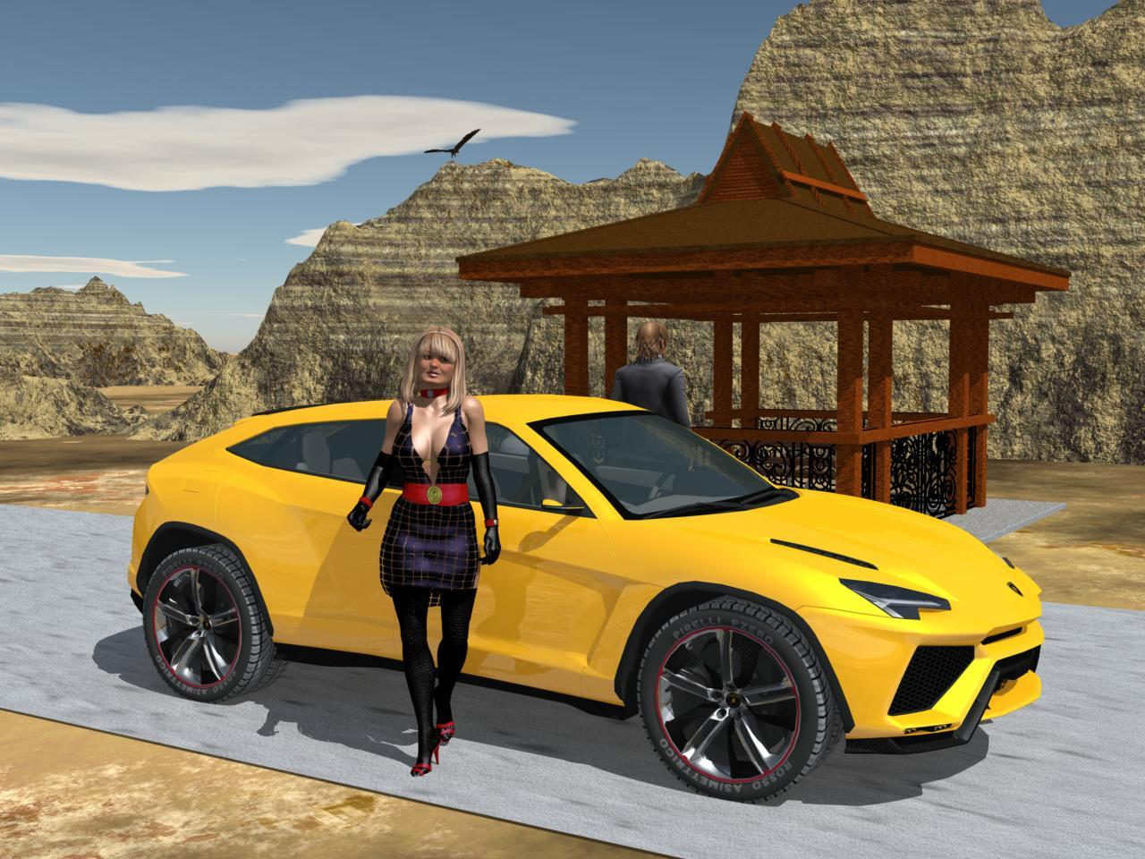 Roadside Stop With Lambo Urus By Kozmos Carrara Rds Glamour