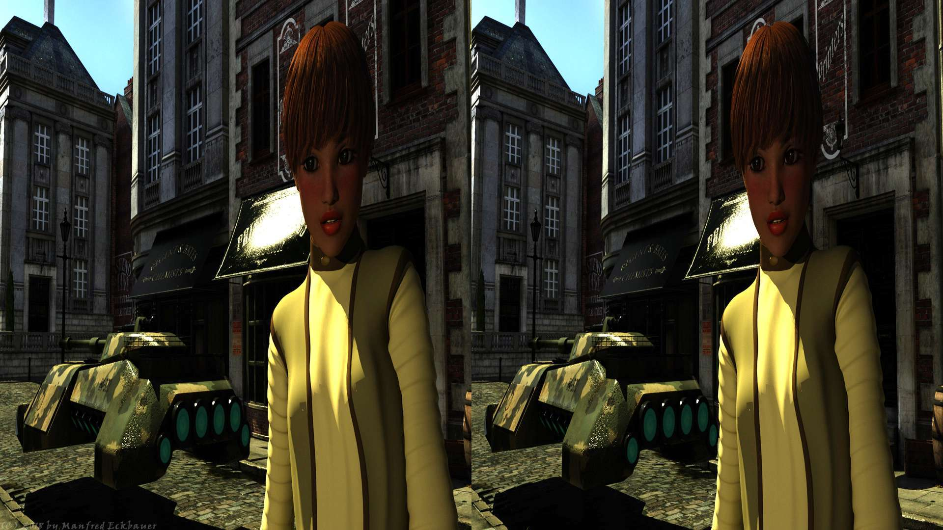 London Girl for your 3D-TV (side by side)