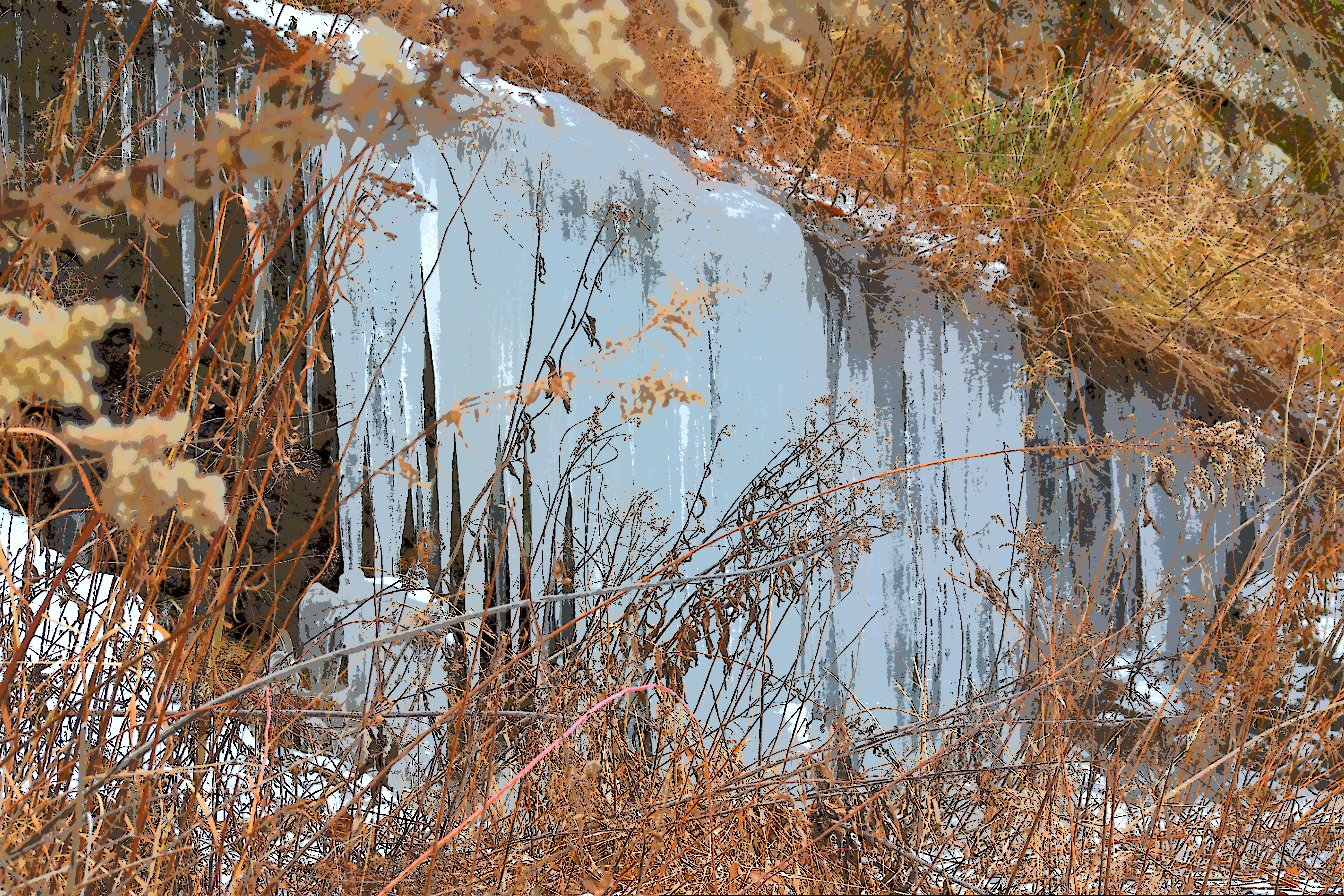 Cliff Ice at Great Cacapon